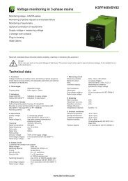 K3PF400VSY02 Voltage monitoring in 3-phase mains Technical data