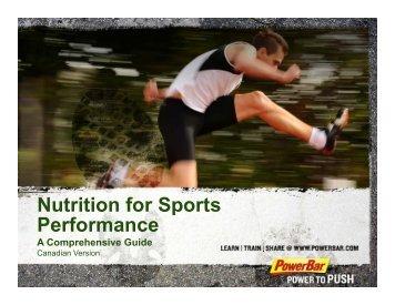 Nutrition for Sports Nutrition for Sports Performance - PowerBar.Com