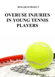 overuse injuries in young tennis players - Premis Universitat de Vic ...