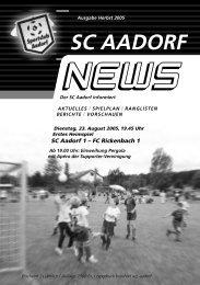 SCA-News Herbst 2005 - SC Aadorf