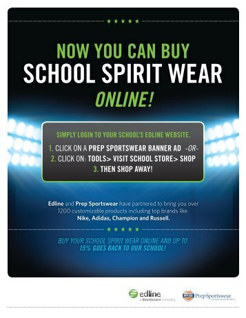 NOW YOU CAN BUY SCHOOL SPIRIT WEAR ONLINE! - Blackboard
