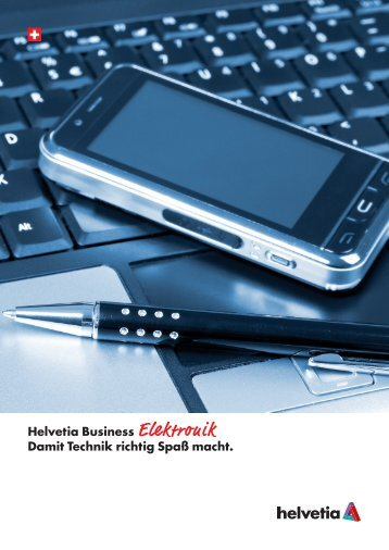 Broschüre Helvetia Business Elektronik