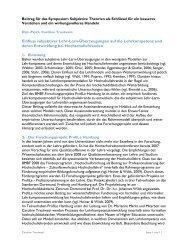 Einfluss subjektiver Lehr-Lern-Überzeugungen auf die ... - ZHW