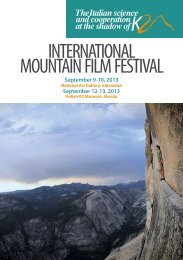 INTERNATIONAL MOUNTAIN FILM FESTIVAL - Ev-K2-CNR