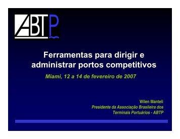 Ferramentas para dirigir e administrar portos competitivos