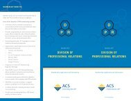 new Division of Professional Relations brochure