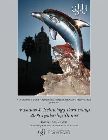 Business & Technology Partnership 2008 Leadership Dinner