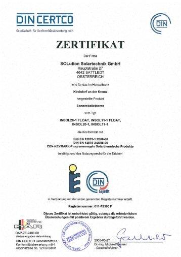 DIN CERTCO - Solution Solartechnik GmbH