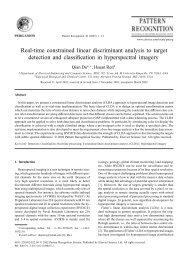 Real-time constrained linear discriminant analysis to target detection ...