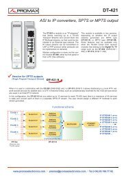 ASI to IP converters, SPTS and MPTS output - DT-421D - Promax
