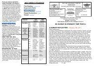 Bulletin 13 Feb 2011