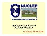 INOVAÇÃO TECNOLÓGICA NA ÁREA NUCLEAR - Nuca
