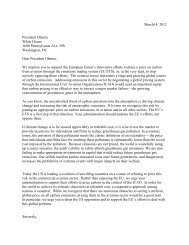 Letter from Economists to Obama - WWF UK