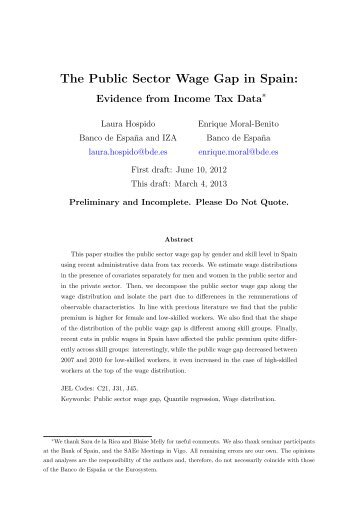 The Public Sector Wage Gap in Spain: