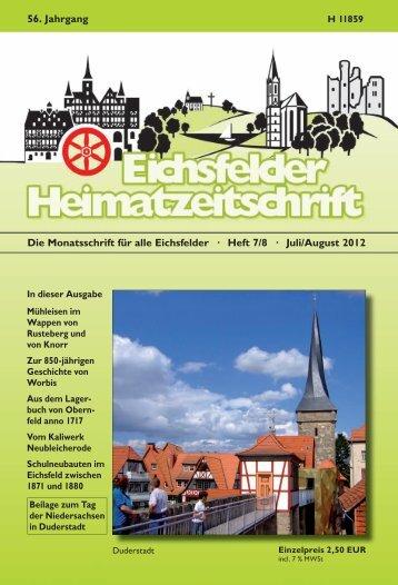 Juli/August 2012 56. Jahrgang - Mecke Druck und Verlag
