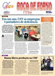 Em um ano, CST só empregou 8 portadores de ... - CNM/CUT