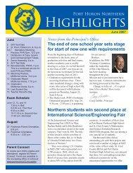 Highlights - Port Huron Area Schools