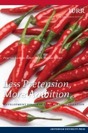 Less Pretension, More Ambition - International Development Studies ...