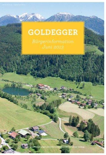Bürgerinformation Juni 2013 - Gemeinde Goldegg