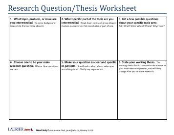 research question thesis statement What is a thesis statement the thesis statement is the sentence that states the main idea of a writing assignment and helps control the ideas within the paper it is.