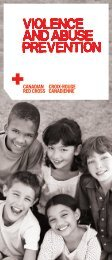 Violence and Abuse Prevention - Canadian Red Cross
