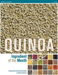 Quinoa - American Culinary Federation