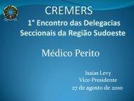 Isaias Levy - I Encontro Seccinais Cremers - Sudoeste 27/08/2010