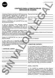 contrato para la prestación de servicios de housing - Claro