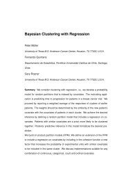 Bayesian Clustering with Regression - Facultad de Matemáticas ...