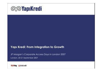 Yapı Kredi: From Integration to Growth
