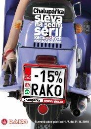 Slevová akce platí od 1. 7. do 31. 8. 2010 - KERABO.cz