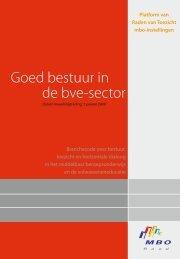 branchecode 'Goed bestuur in de bve-sector' - ROC Friese Poort