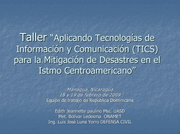 """Aplicando Tecnologías de Información y Comunicación (TICs) para ..."