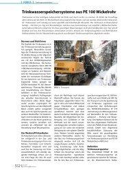 Trinkwasserspeichersysteme aus PE 100 Wickelrohr - Frank GmbH