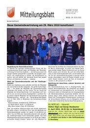 Neue Gemeindevertretung am 29. März 2010 ... - Gemeinde Brand