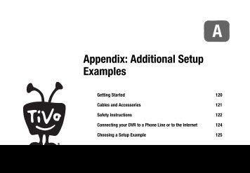 Appendix: Additional Setup Examples - TiVo