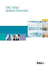 TAC VistaTM System Overview - Xref