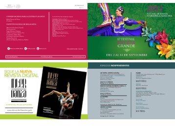 17° Festival Patria Grande, 2013 - Coordinacion Nacional de Danza ...