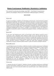 Plantas Geneticamente Modificadas e Resistência a Antibióticos - CIB