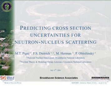 predicting cross section uncertainties for neutron-nucleus scattering