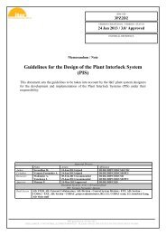 Guidelines for the Design of the Plant Interlock System (PIS) - Iter
