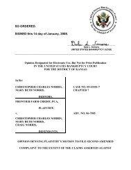 06-07005 Frontier Farm Credit v. Norris et al #6 - US Bankruptcy Court