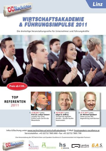 WIRTSCHAFTSAKADEMIE & FÜHRUNGSIMPULSE 2011 Linz