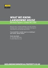 lansdoWne house - See London Commercial Property