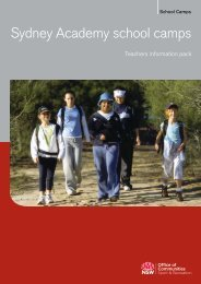 Teachers information pack - Sydney Academy - NSW Sport and ...