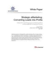 White Paper Strategic eMarketing: Converting ... - Gilbane Report