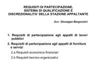 Requisiti di partecipazione, sistema di qualificazione e ...