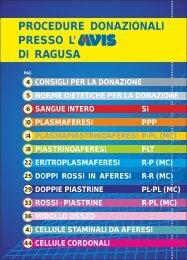 PROCEDURE DONAZIONALI PRESSO L' DI RAGUSA - Avis Ragusa