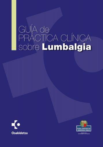 Guía de Práctica Clínica sobre Lumbalgia