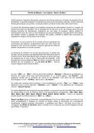Chapitre 01 - Généalogie des de Méautis et des Deméautis du ...